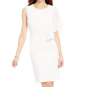 Antonio Melani white ruffle Mecredi dress